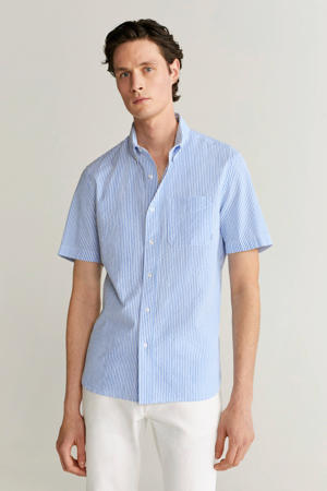 regular fit overhemd pastelblauw
