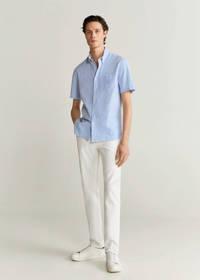 Mango Man regular fit overhemd pastelblauw