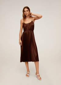 Mango jurk bruin, Bruin