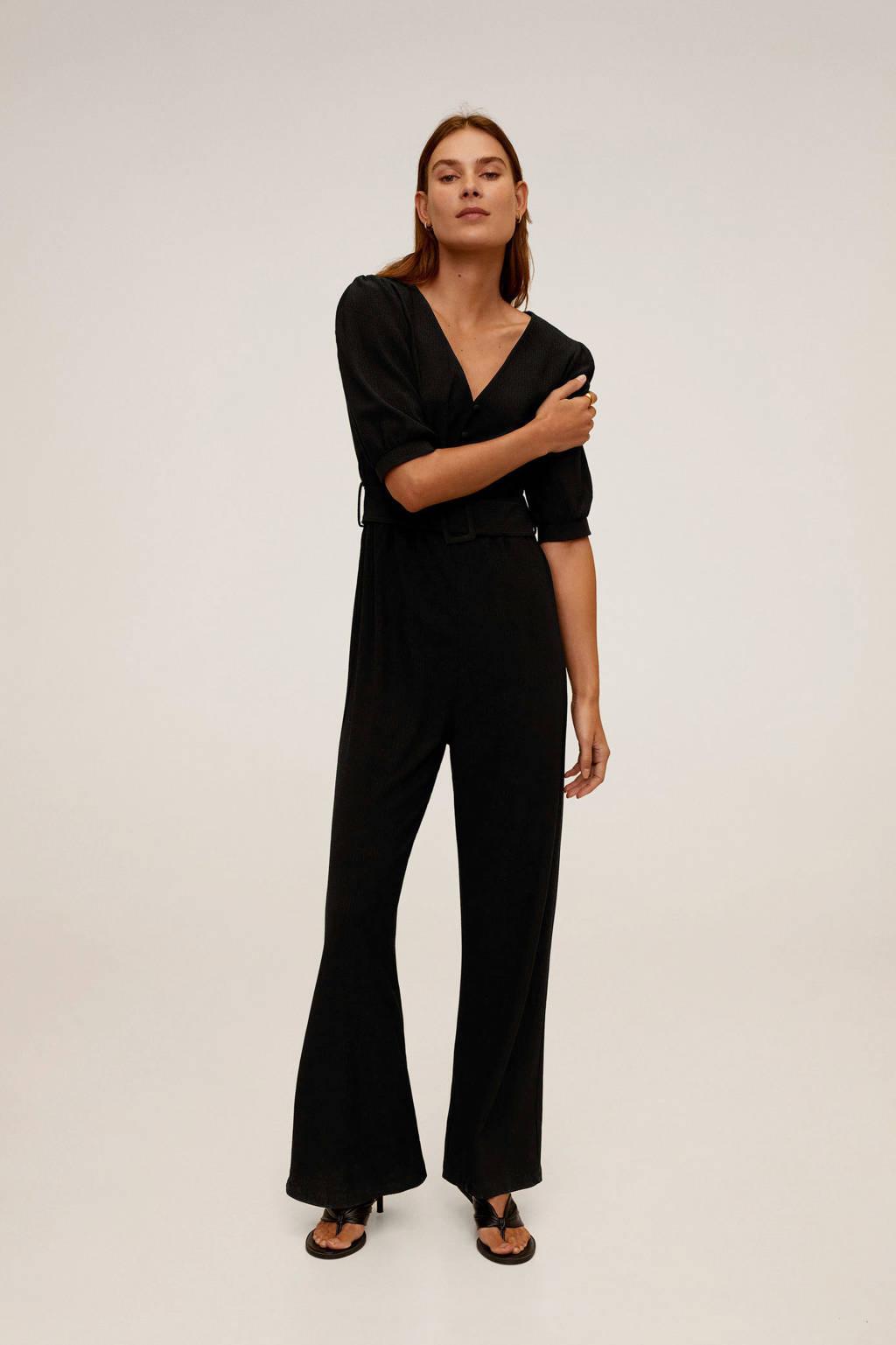 Mango jumpsuit zwart, Zwart