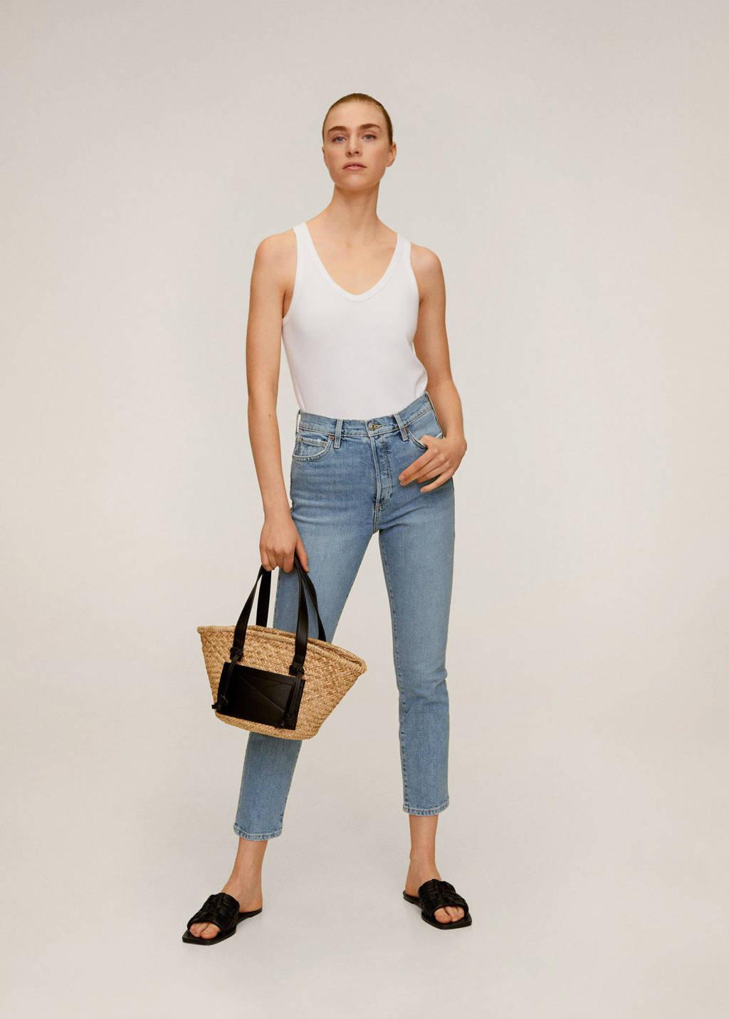 Mango slim fit jeans blauw, Blauw