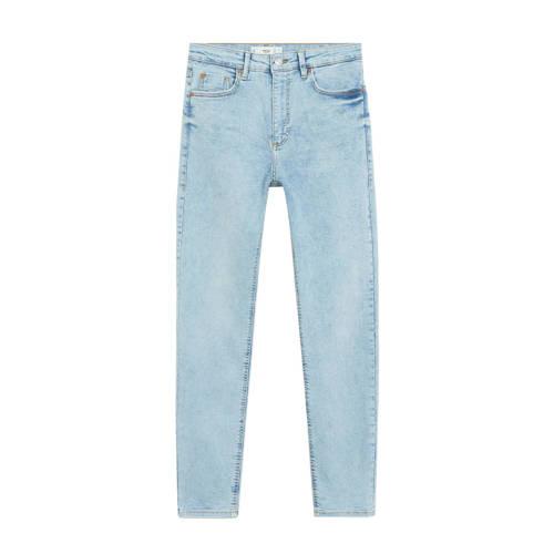 Mango high waist skinny jeans light blue denim