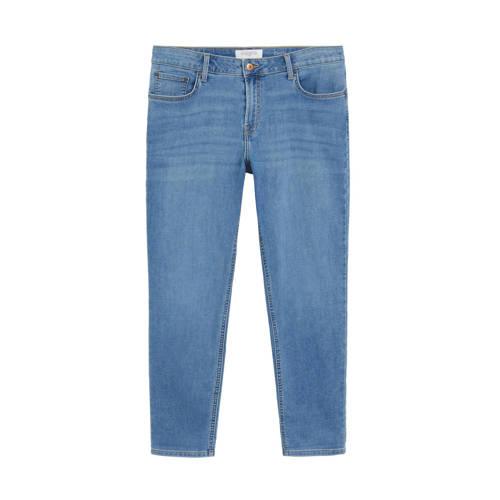 Violeta by Mango slim fit broek changeant blauw