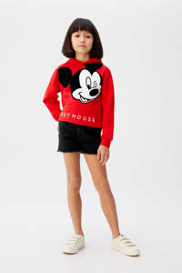 Mango Kids Mickey Mouse hoodie met printopdruk rood, Rood