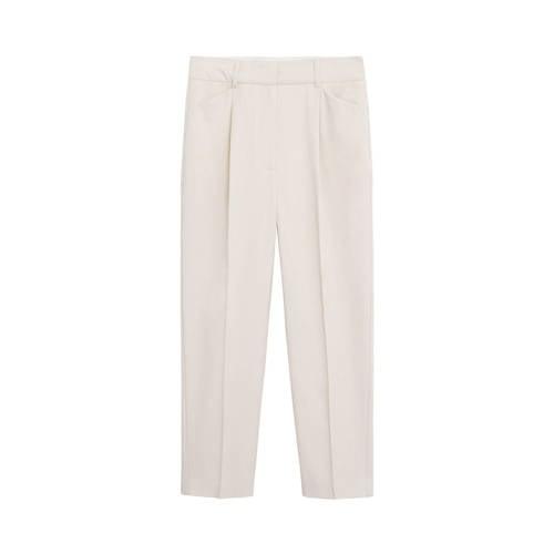 Mango cropped straight fit pantalon ecru
