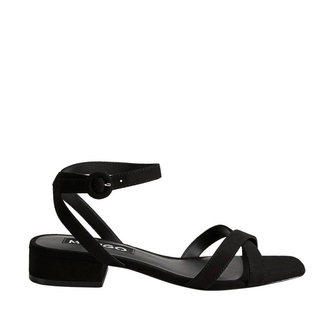 Mango   sandalen zwart, Zwart