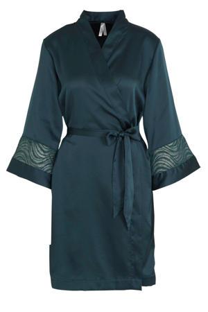 satijnen kimono groen