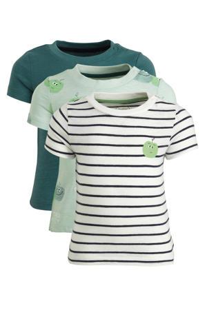 T-shirt - set van 3 groen