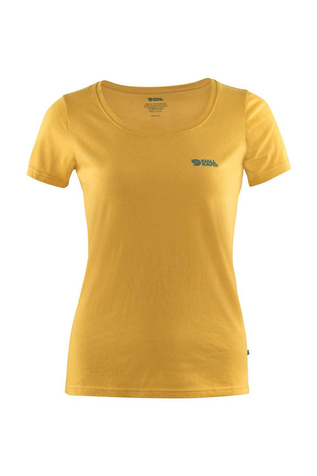 Fjällräven outdoor T-shirt geel, Geel