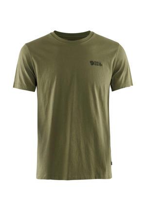 outdoor T-shirt olijfgroen