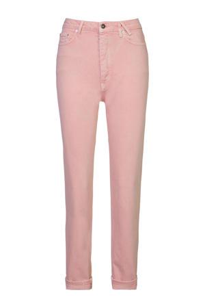 high waist tapered fit jeans Jadan B lichtroze