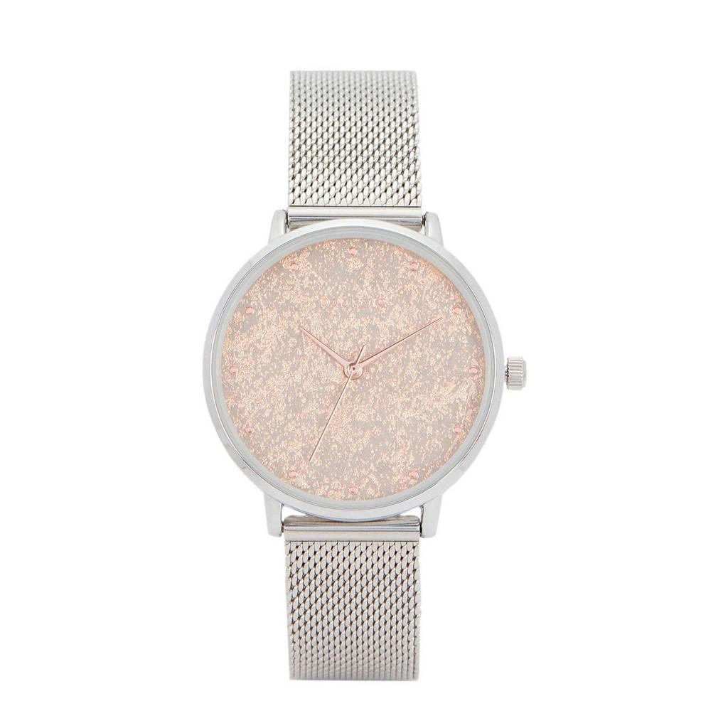 Parfois horloge zilverkleurig, Zilver