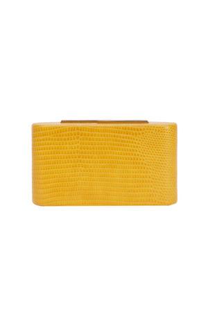 boxbag Lizard geel