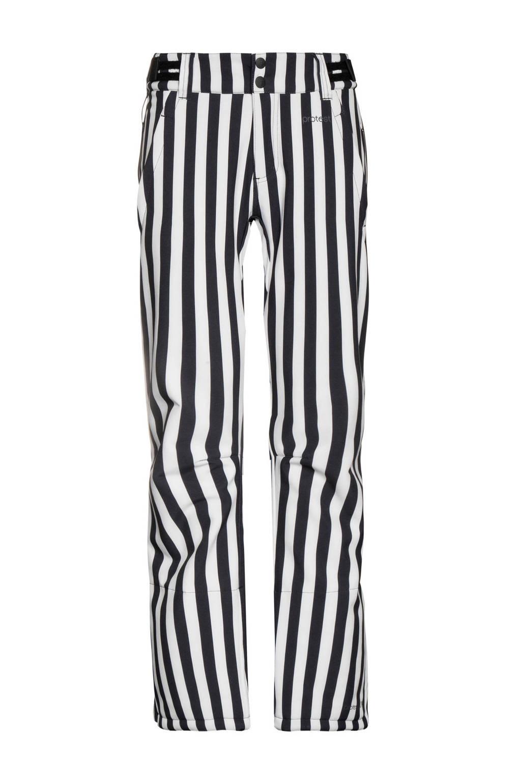Protest softshell skibroek Angle 20 zwart/wit, Zwart/wit