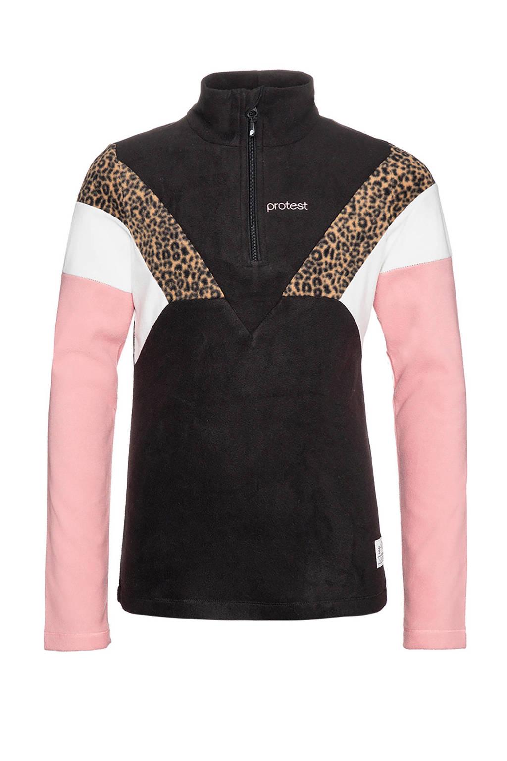Protest skipully Evy JR zwart/roze/wit, Zwart/roze/wit