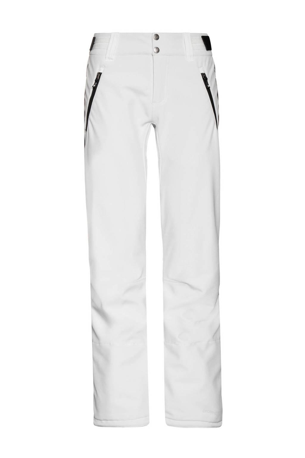 Protest softshell skibroek Coco wit/zwart, Wit/zwart