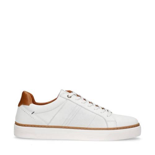 No Stress nubuck sneakers wit/cognac