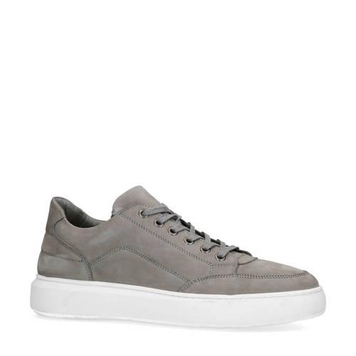 Manfield nubuck sneakers grijs