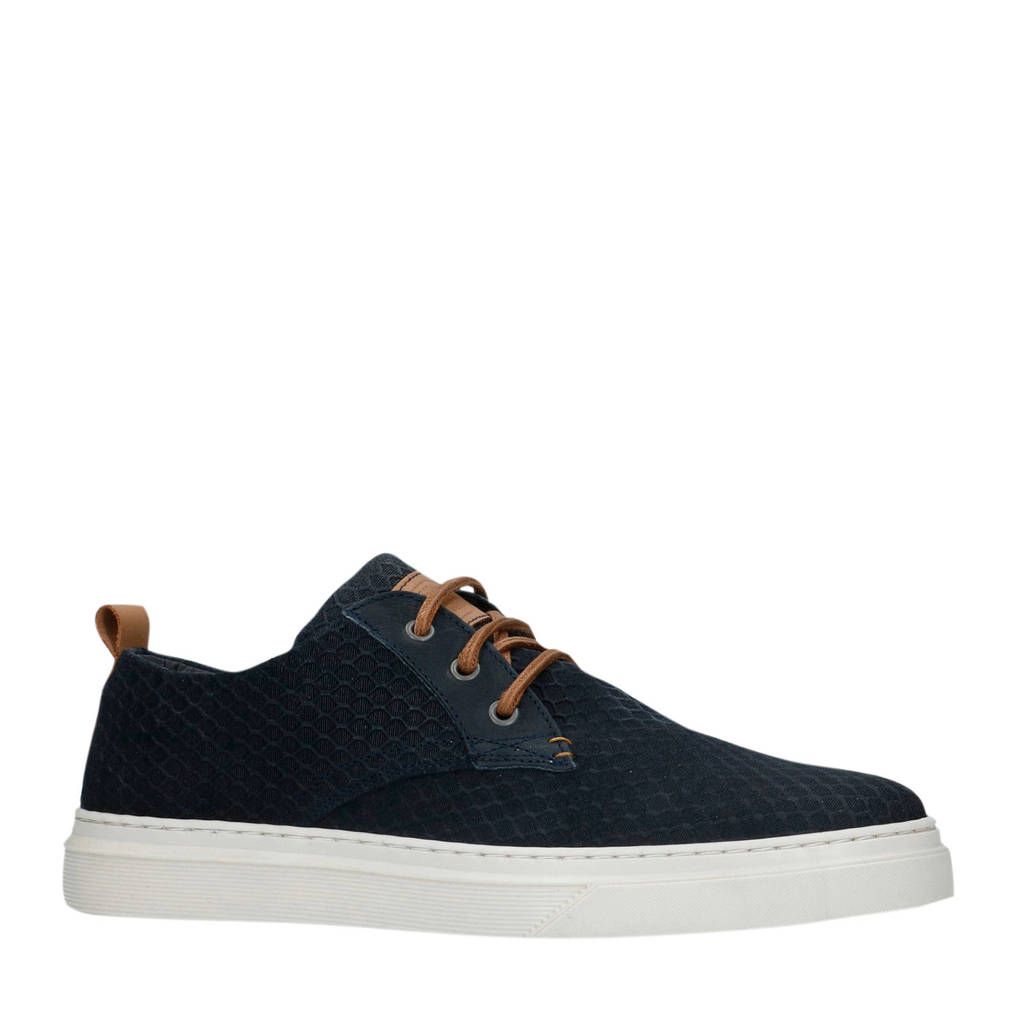 Manfield   suède sneakers donkerblauw, Donkerblauw