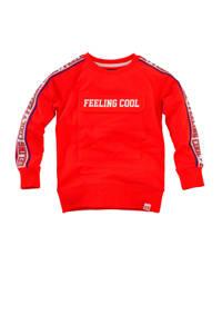 Z8 sweater Lewis met tekst rood/wit/blauw, Rood/wit/blauw