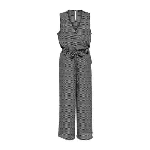 ONLY jumpsuit Nova met all over print zwart/wit