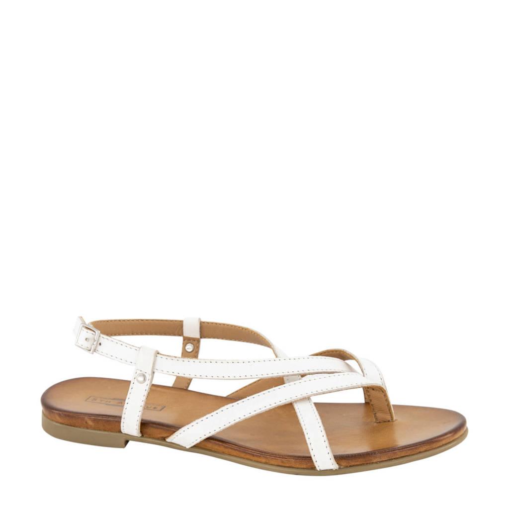 5th Avenue   leren sandalen wit, Wit