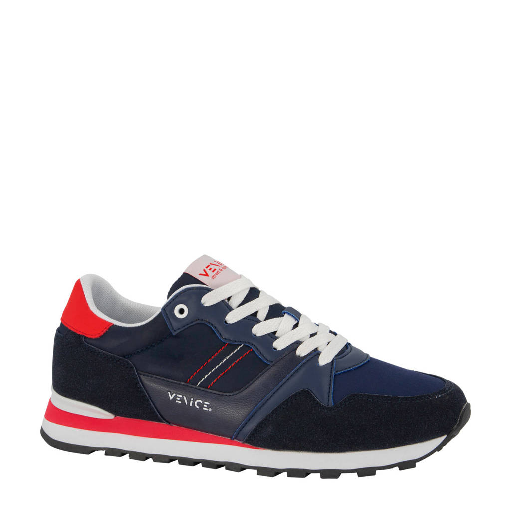 Venice   sneakers donkerblauw/rood, Donkerblauw/rood