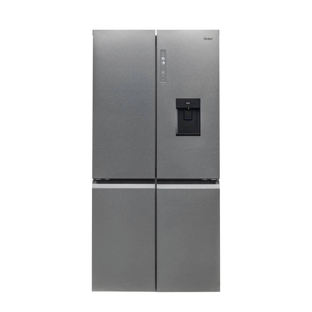 Haier HTF-520IP7 amerikaanse koelkast, Platinum,Stainless steel