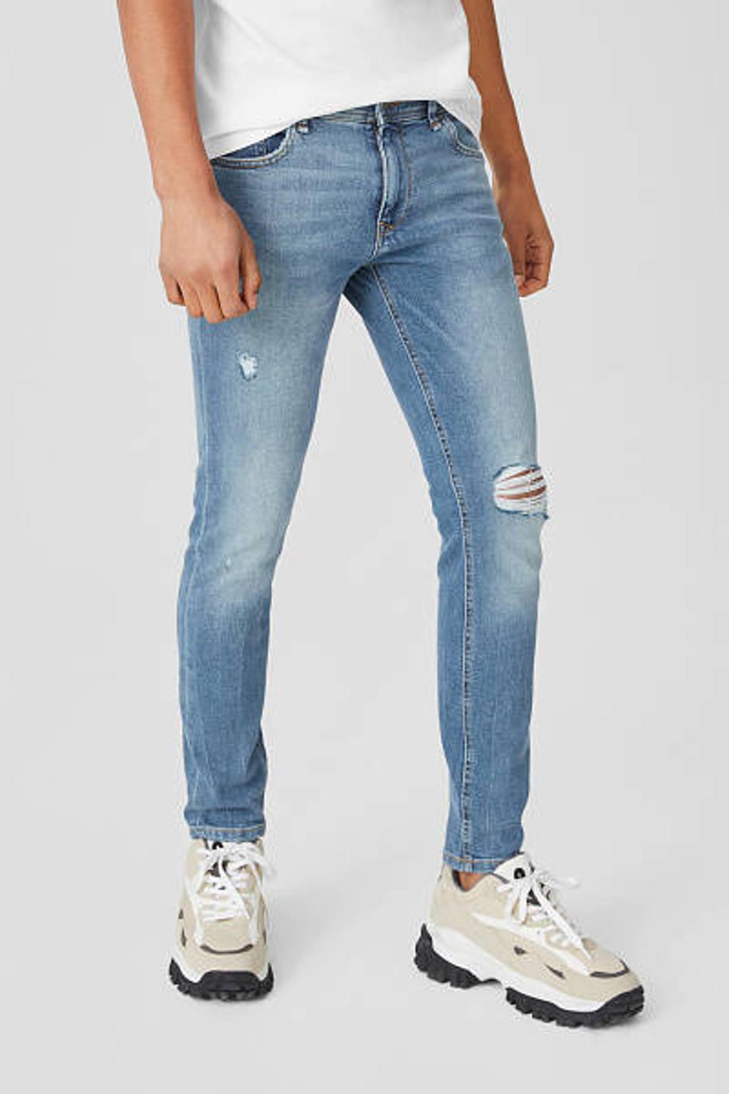 C&A Clockhouse skinny jeans blauw, Blauw
