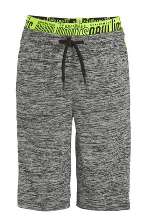 sweatshort grijs/geel
