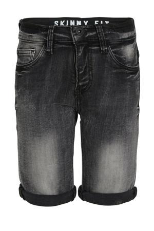 jeans bermuda met biologisch katoen zwart