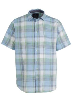 geruit regular fit overhemd lichtblauw