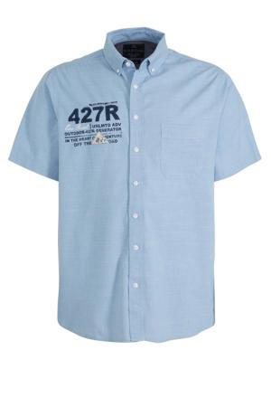 regular fit overhemd met printopdruk lichtblauw