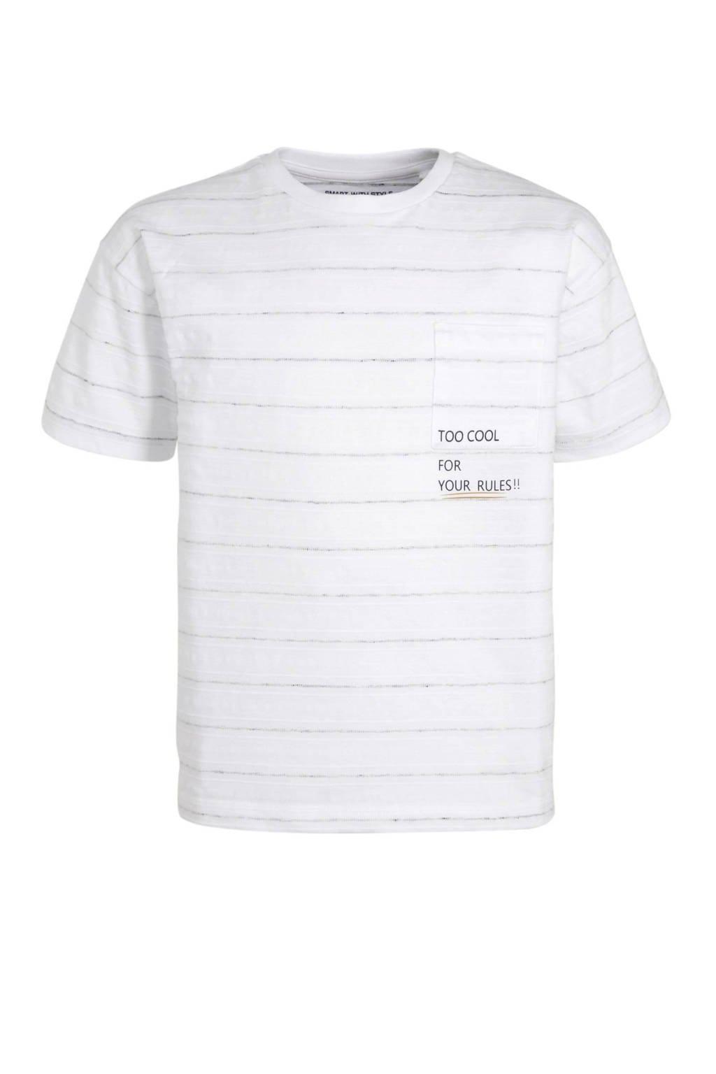 C&A Palomino gestreept T-shirt wit, Wit