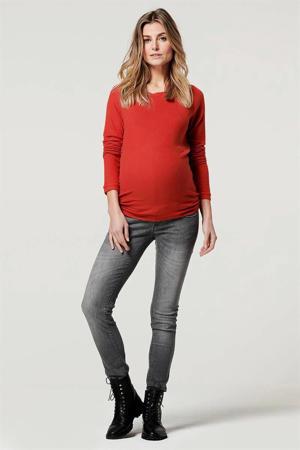 zwangerschaps- en voedingssweater Alnwick rood