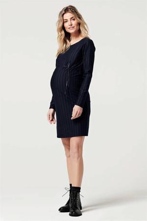 gestreepte zwangerschapsjurk Abingdon donkerblauw