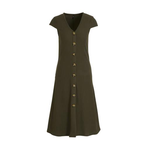 ONLY jurk Nella donkergroen