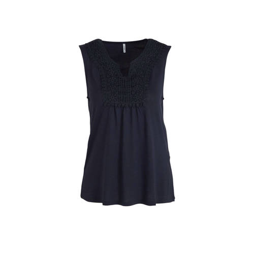 ONLY top donkerblauw