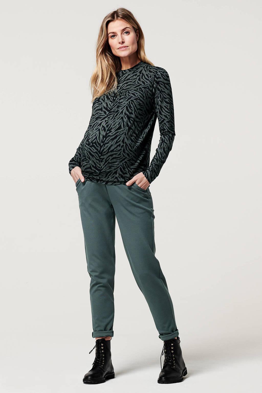 Noppies low waist skinny zwangerschapsbroek Renee grijsblauw, Grijsblauw