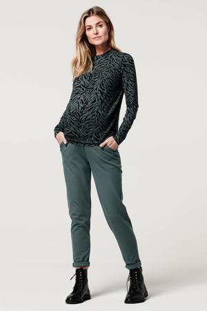 low waist skinny zwangerschapsbroek Renee grijsblauw