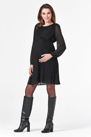 semi-transparante zwangerschapsjurk Sakado van gerecycled polyester zwart