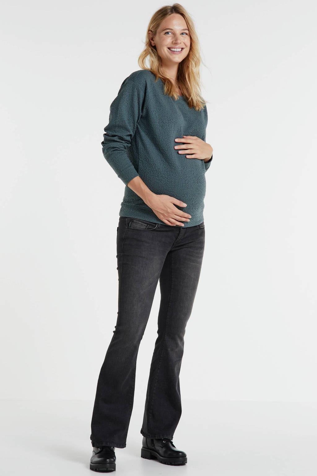 Noppies zwangerschapssweater Bude met all over print groen, Groen