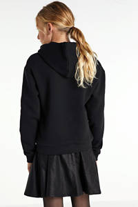 GUESS cropped hoodie met logo zwart, Zwart