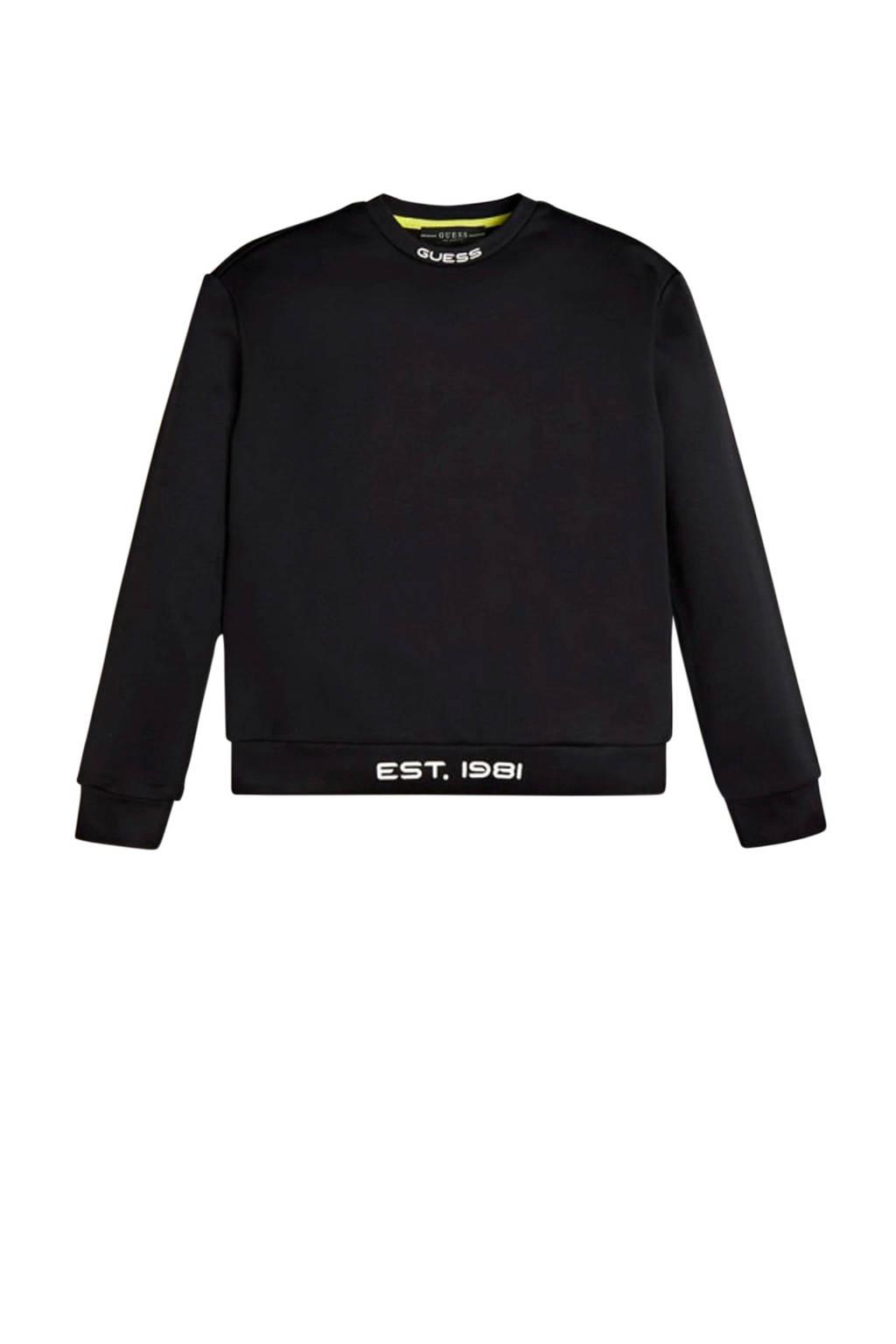 GUESS sweater LS Sweatshirt zwart, Zwart
