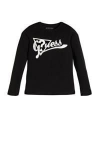 GUESS longsleeve LS T-shirt met logo zwart, Zwart