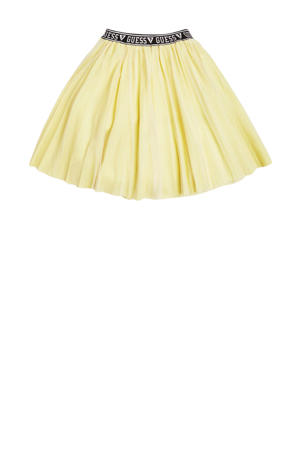 mesh rok Lurex polyinterlock midi skirt groengeel