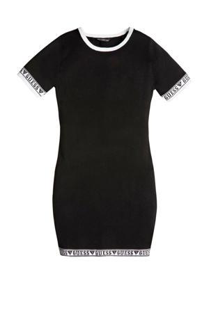 jurk SS sweater dress met logo zwart