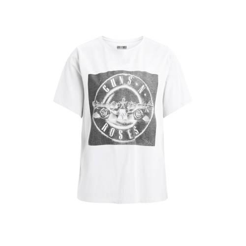 VILA T-shirt met printopdruk wit