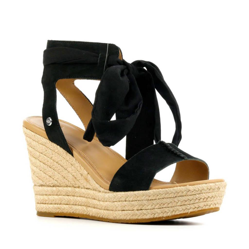 UGG Wittley 1108534 suède sandalettes zwart, Zwart