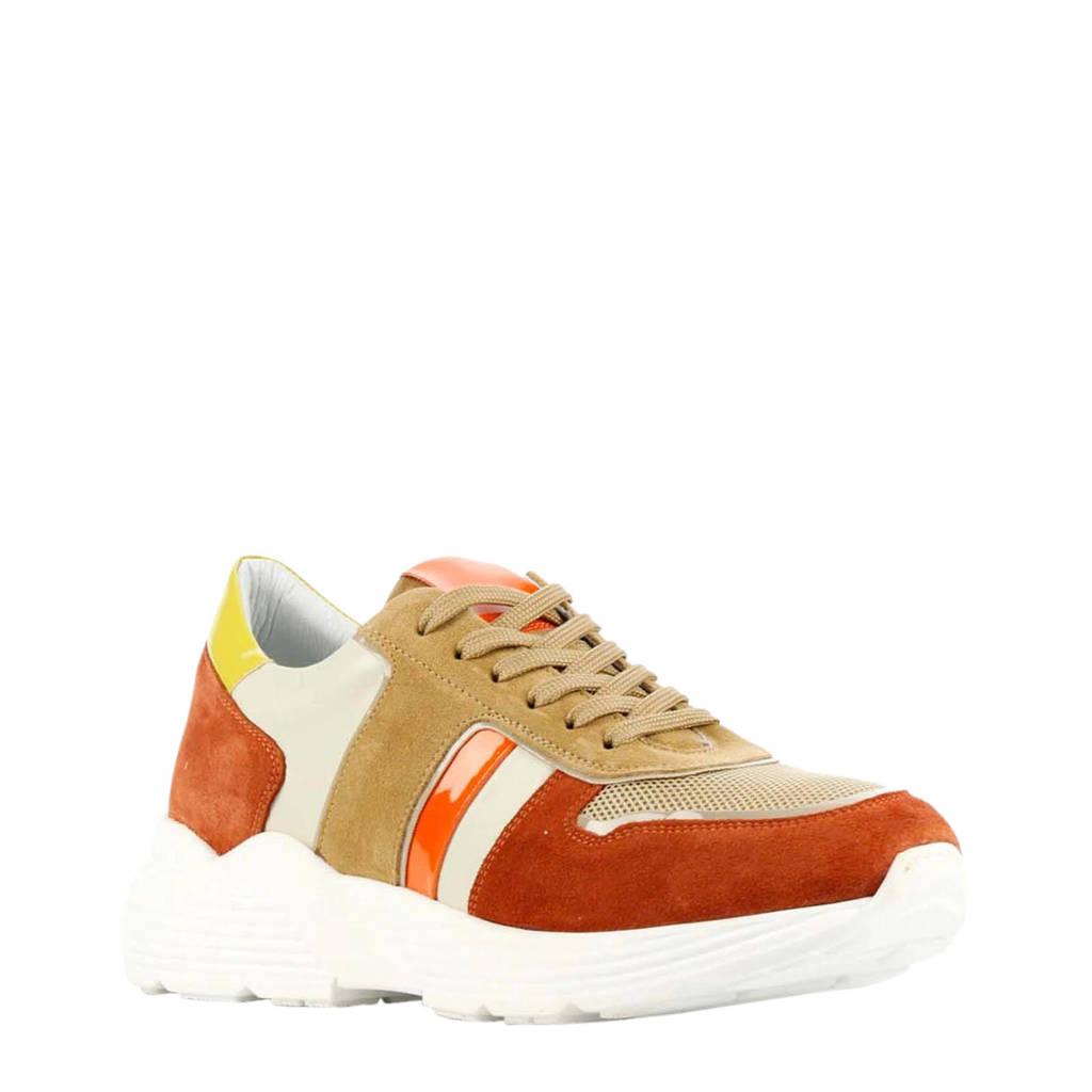 Hip D1916  suède sneakers bruin/multi, Bruin/multi